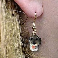 Irish Wolfhound Earrings Hanging