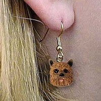 Norwich Terrier Earrings Hanging