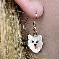 American Eskimo Earrings Hanging