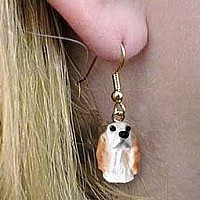 English Setter Belton Orange Earrings Hanging