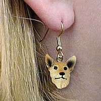 Australian Cattle Red Dog Earrings Hanging
