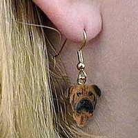 Bullmastiff Earrings Hanging