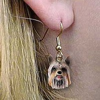 Silky Terrier Earrings Hanging
