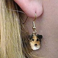 Australian Shepherd Blue w/Docked Tail Earrings Hanging