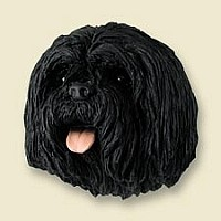 Lhasa Apso Black Doogie Head