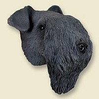Kerry Blue Terrier Doogie Head