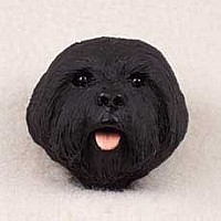 Lhasa Apso Black w/Sport Cut Doogie Head