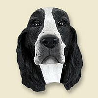 Springer Spaniel Black & White Doogie Head