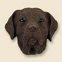 Labrador Retriever Chocolate Doogie Head