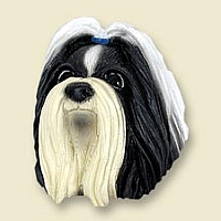 Shih Tzu Black & White Doogie Head