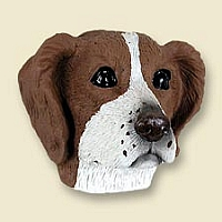 Brittany Brown & White Spaniel Doogie Head