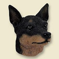 Miniature Pinscher Tan & Black Doogie Head