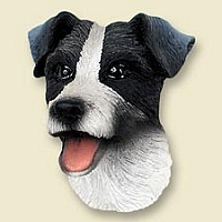 Jack Russell Terrier Black & White w/Rough Coat Doogie Head