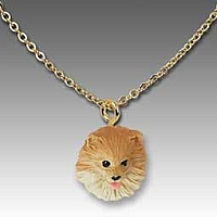 Pomeranian Red Tiny One Pendant