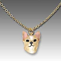 Chihuahua Tan & White Tiny One Pendant