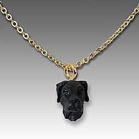 Great Dane Black w/Uncropped Ears Tiny One Pendant