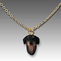 Doberman Pinscher Black w/Uncropped Ears Tiny One Pendant