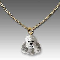 Poodle Gray w/Sport Cut Tiny One Pendant