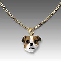 Jack Russell Terrier Brown & White w/Smooth Coat Tiny One Pendant