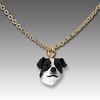 Jack Russell Terrier Black & White w/Smooth Coat Tiny One Pendant