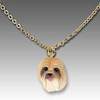 Lhasa Apso Brown Tiny One Pendant