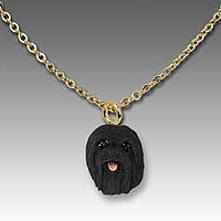 Lhasa Apso Black Tiny One Pendant