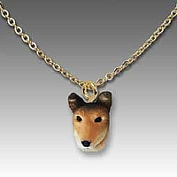 Collie Smoth Hair Tiny One Pendant