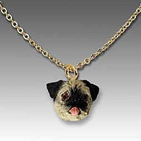Pug Fawn Tiny One Pendant
