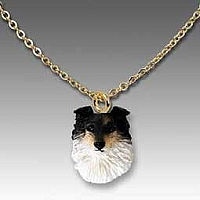 Sheltie Tricolor Tiny One Pendant