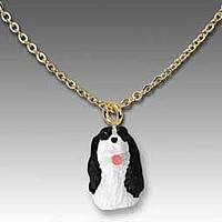 Springer Spaniel Black & White Tiny One Pendant