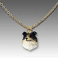 Collie Tricolor Tiny One Pendant