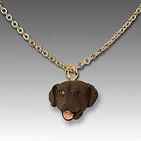 Labrador Retriever Chocolate Tiny One Pendant