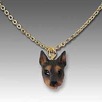 Doberman Pinscher Red w/Cropped Tiny One Pendant
