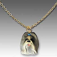 Shih Tzu Mixed Tiny One Pendant