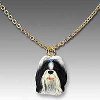 Shih Tzu Black & White Tiny One Pendant