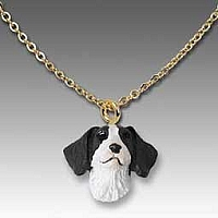 Brittany Liver & White Spaniel Tiny One Pendant