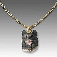 Keeshond Tiny One Pendant