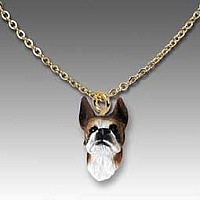 Boxer Brindle Tiny One Pendant