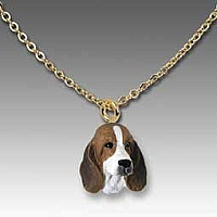 Basset Hound Tiny One Pendant