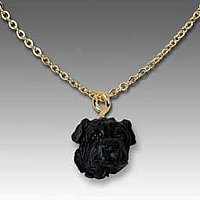 Shar Pei Black Tiny One Pendant