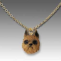 Brussels Griffon Red Tiny One Pendant