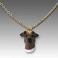 Fox Terrier Brown & White Tiny One Pendant
