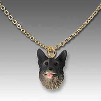 Norwegian Elkhound Tiny One Pendant
