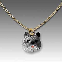 Cairn Terrier Gray Tiny One Pendant