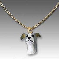 Greyhound Gray Tiny One Pendant