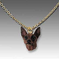 Miniature Pinscher Red & Brown Tiny One Pendant