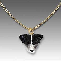 Jack Russell Terrier Black & White w/Rough Coat Tiny One Pendant