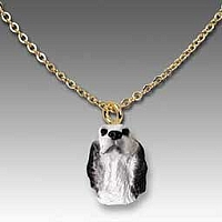English Setter Belton Blue Tiny One Pendant