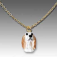 English Setter Belton Orange Tiny One Pendant