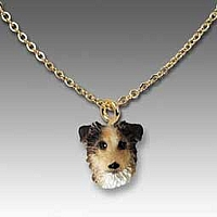 Australian Shepherd Blue w/Docked Tail Tiny One Pendant